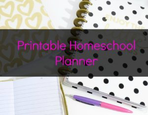Get your free homeschool printable planner.